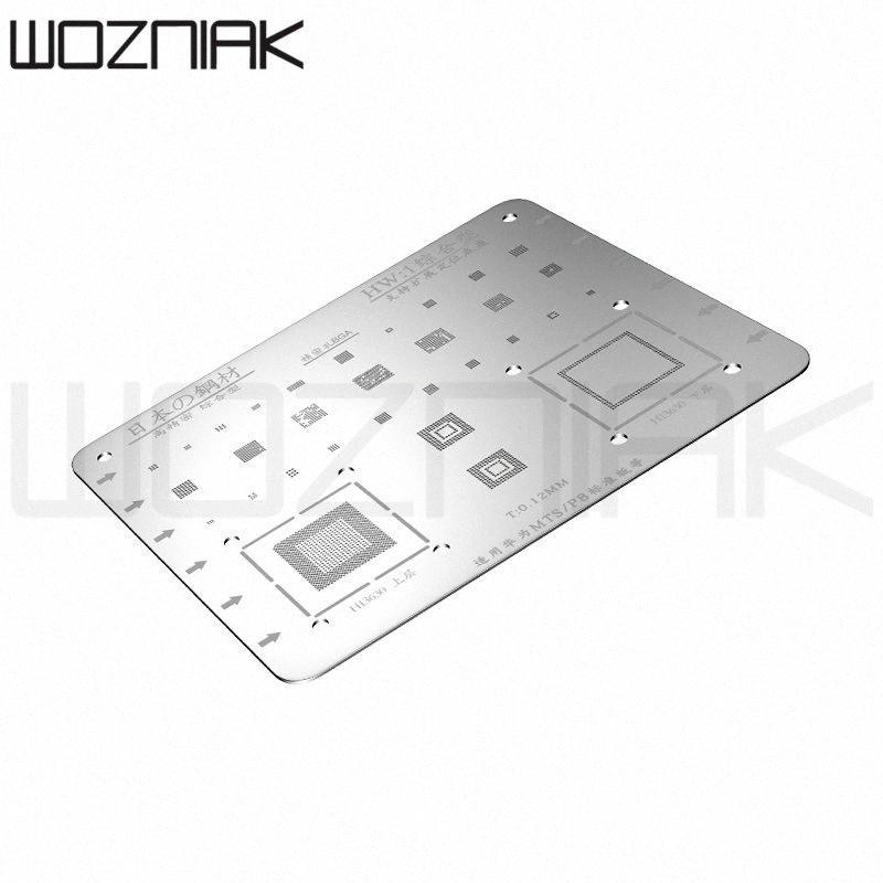 Für Motherboard IC Chip Löten Reparatur-Werkzeug BGA Reballing Stencil Schablone Edelstahlplatte n9Ww #