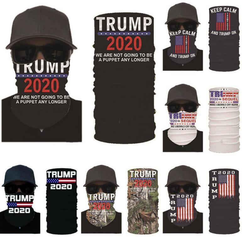 Trump Masken Magie Bandana Kopfbedeckungen US-amerikanischen Wahlen Dustpoof Scarve Außen Waschbar Wiederverwendbare Suncreen Kerchief Mask OOA8288