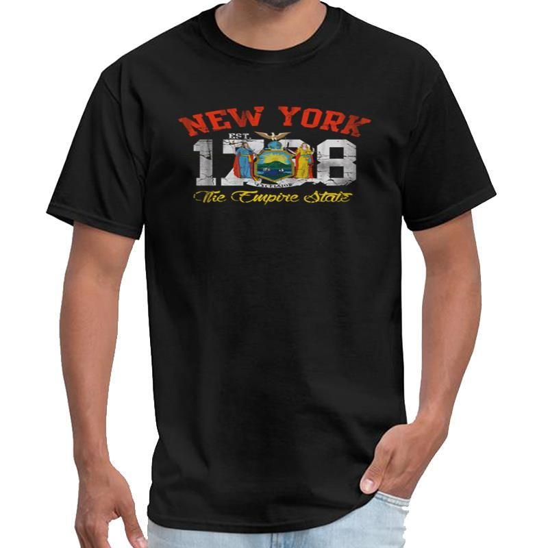 Личность Нью-Йорк Empire State тенниски женщины летняя одежда для мужчин майки с-5XL лозунга