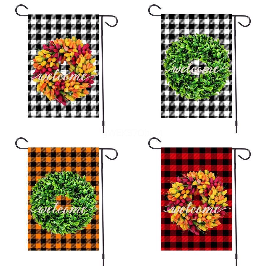 Partito decorativo Bandiera all'aperto Bandiere in poliestere Indoor Garden Bandiere HomeBanner 32 * 47cm di compleanno Decorazione Flagpole # 199