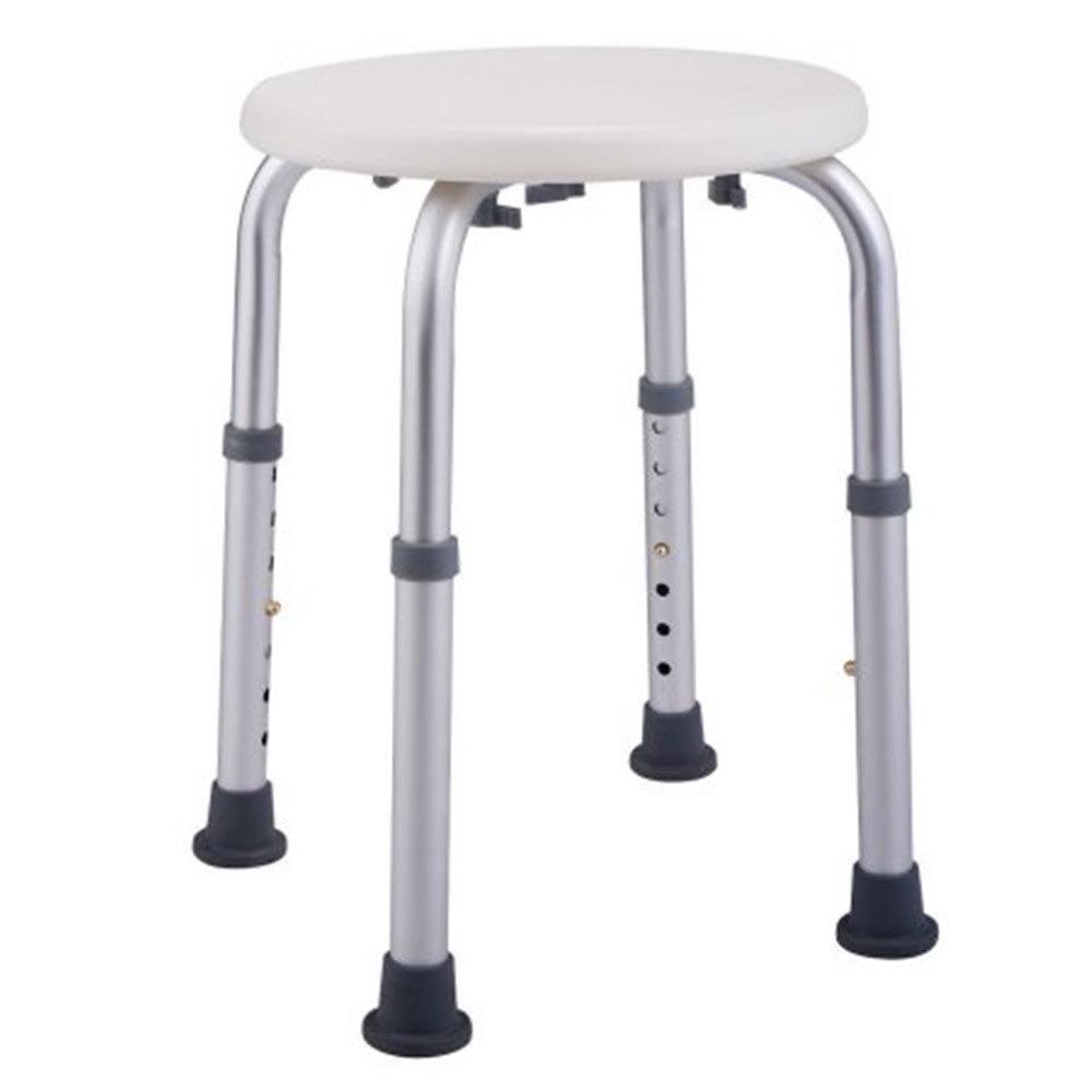 Alumínio Novas ajustáveis liga idosos cadeira de banho redonda Stool Início Bathroom Supplies Branco Bath auxiliar Stool