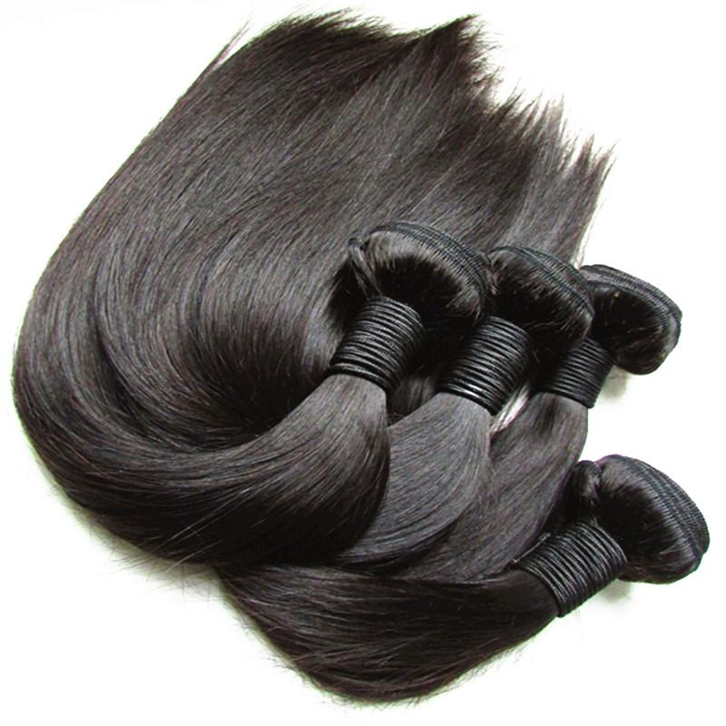 Unproessed 10A Brazilian Virgin Human Hair Bundles Silk Straight 4Pcs 400g Lot Perruques De Cheveux Humains Cabelo Cut From One Donor