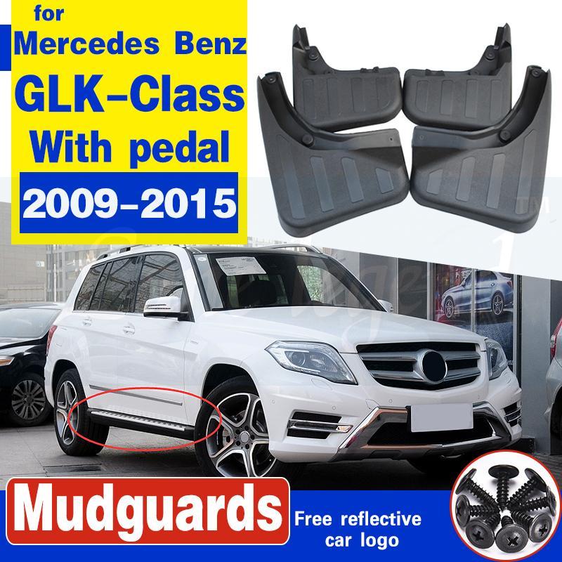 Schmutzfängern für Mercedes-Benz GLK-Klasse X204 2009-2015 mit Pedal Spritzschutz Kotflügel Schmutzfänger Fender Zubehör