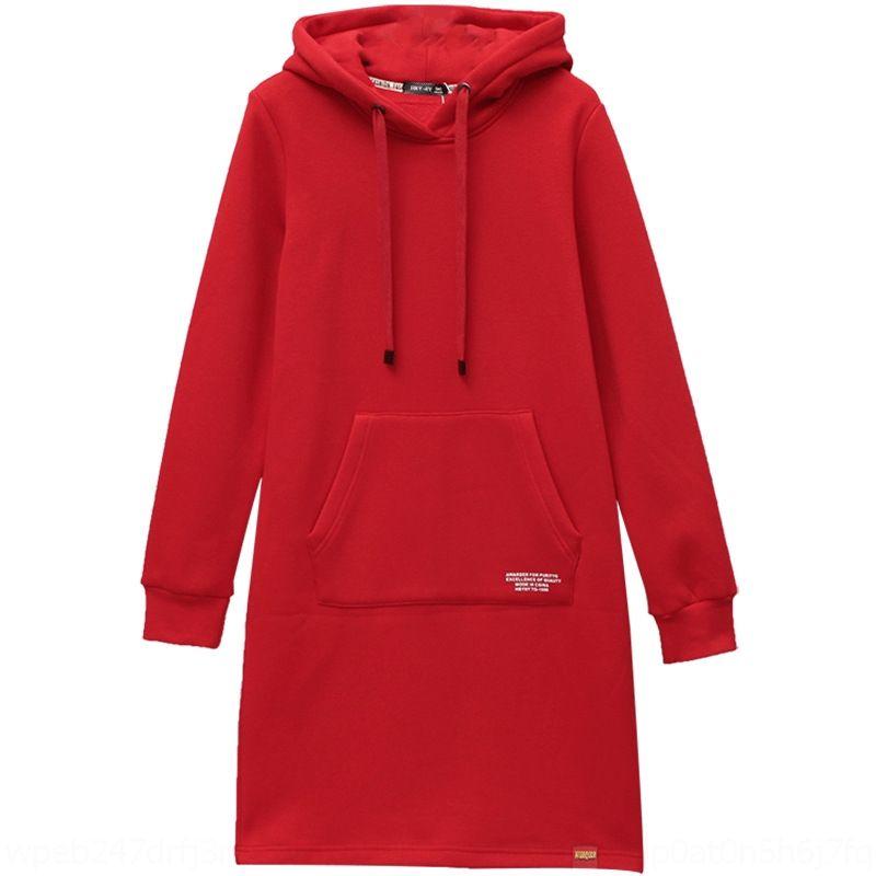 KHbf7 e0nRa 2020 do outono Mulheres Mid-comprimento estilo saia do vestido das mulheres MM coreano veludo camisola solta grande plus size camisola engrossado Lon gordura