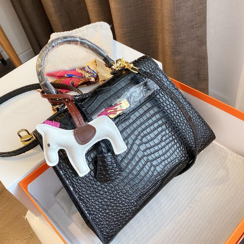 Large Fashion Genuine Real Leather Women Handbags Purses Hand Bags Black Crossbody Women Shoulder Bag Tote Shopping Bags
