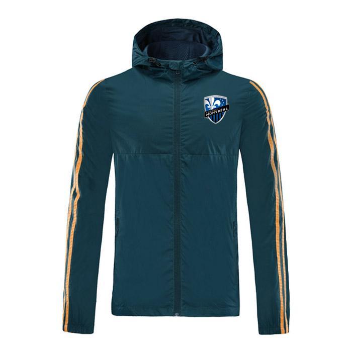 2020 Montreal Impact осень / зима новый модный бренд куртка способа, с капюшоном на молнии Ветровка, футбол работает спортивная
