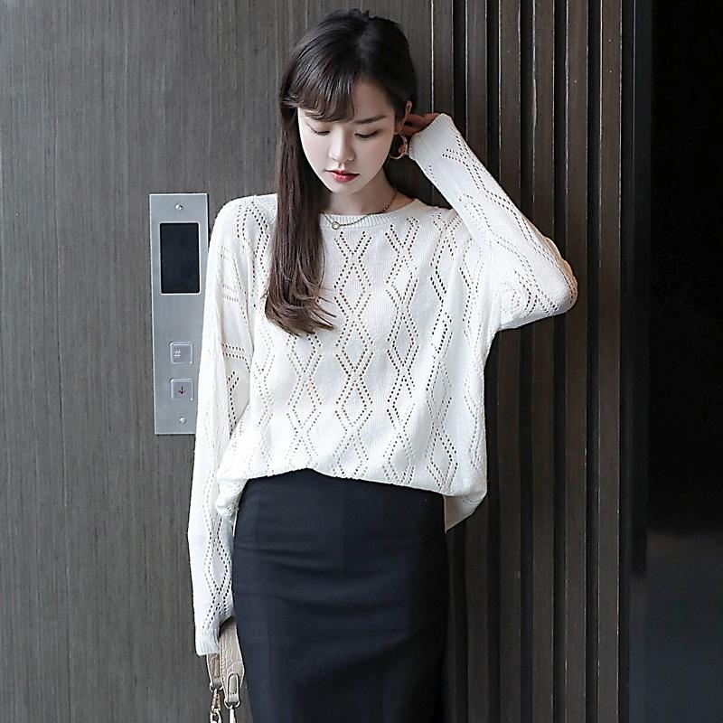 top início da primavera all-jogo roupas de primavera das mulheres fina 2020 nova cor sólida Pullover Top Sweater vqxzu camisola solta pullover solta