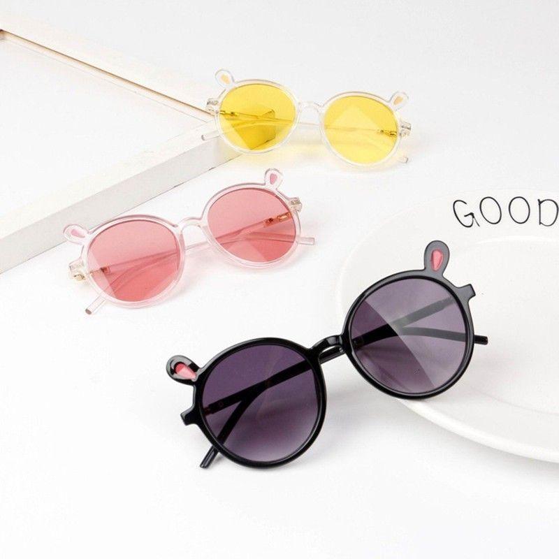 De dessin animé mignon oreille lapin boys bûches soleil lunettes de soleil grau filles verres 2019 oculos féminino enfants kwwtx