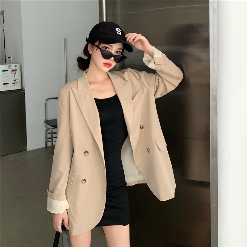 OTN0T ~ 3209 # 2020 erken sonbaharda niş lapels sonra Coat mont cebi tasarım duygu ile kadınların gündelik elbise