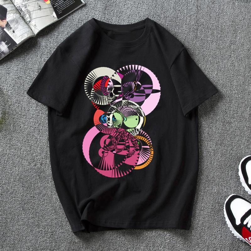 Kaleidoscope Lady yaz 2020 kısa kollu Baskılı Kadınlar t gömlek moda rahat gevşek t shirt