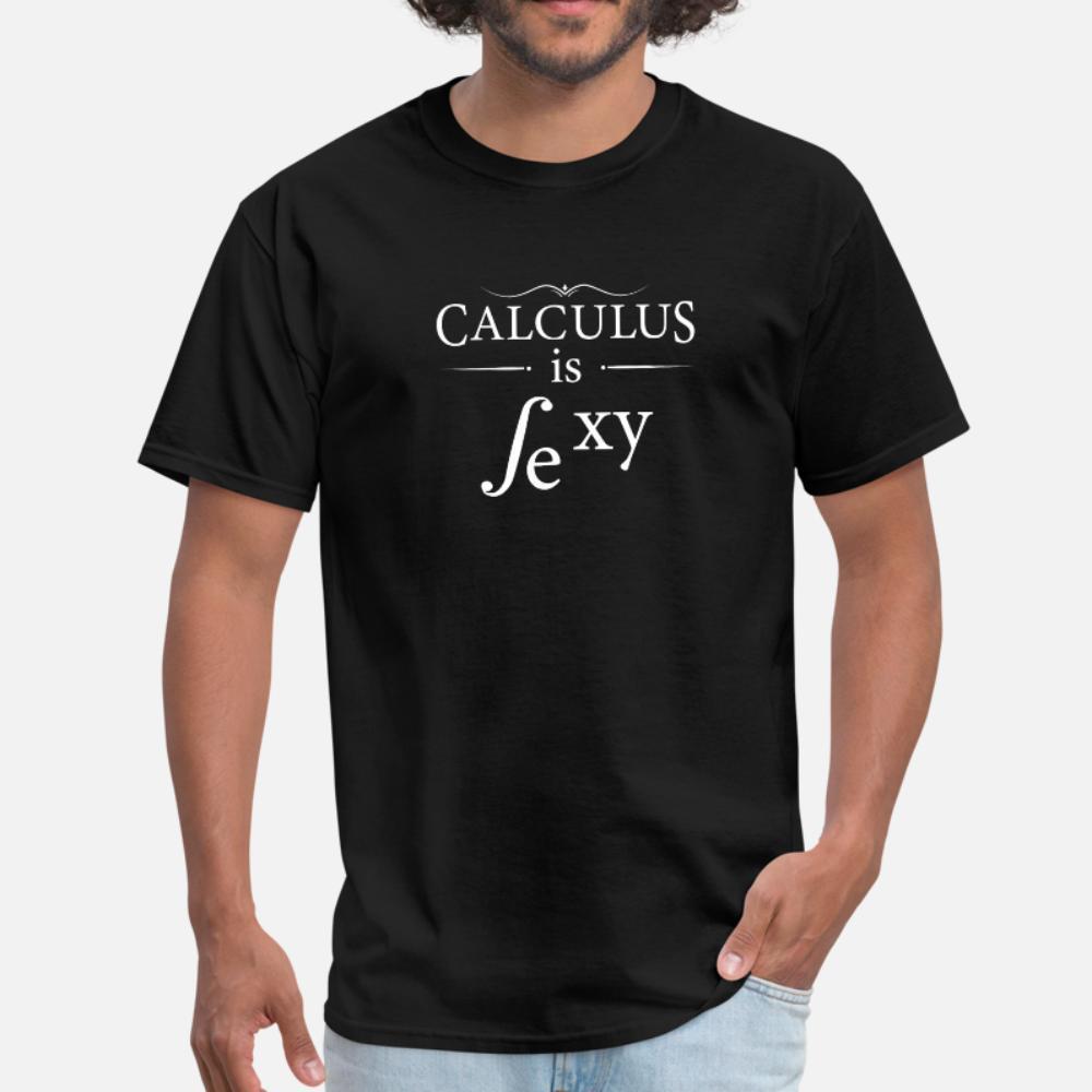 cálculo é professor de matemática camiseta homens sexy engraçados Custom 100% algodão Luz Solar Crew Neck Letter camisa de Moda de Nova Letras de verão