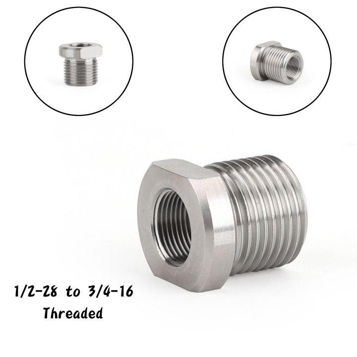 AREYOURSHOP 1 / 2-28 ila 3/4-16 Dişli Yağ Filtresi Adaptörü Paslanmaz Çelik Taktik Ekipman Aksesuarları Parçaları