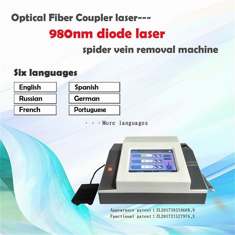 Clinique de haute qualité de Spider Vein Retrait 4 en 1 980nm diode laser machine laser vasculaire pour la clinique peau Dhl Expédition