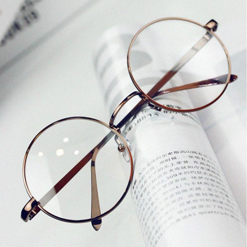 Оптово ANEWISH Vintage очки очки кадр Женщины Круглый Металл Оптический Reading очки кадр Мужчины óculos feminino де Гро gGFZ #