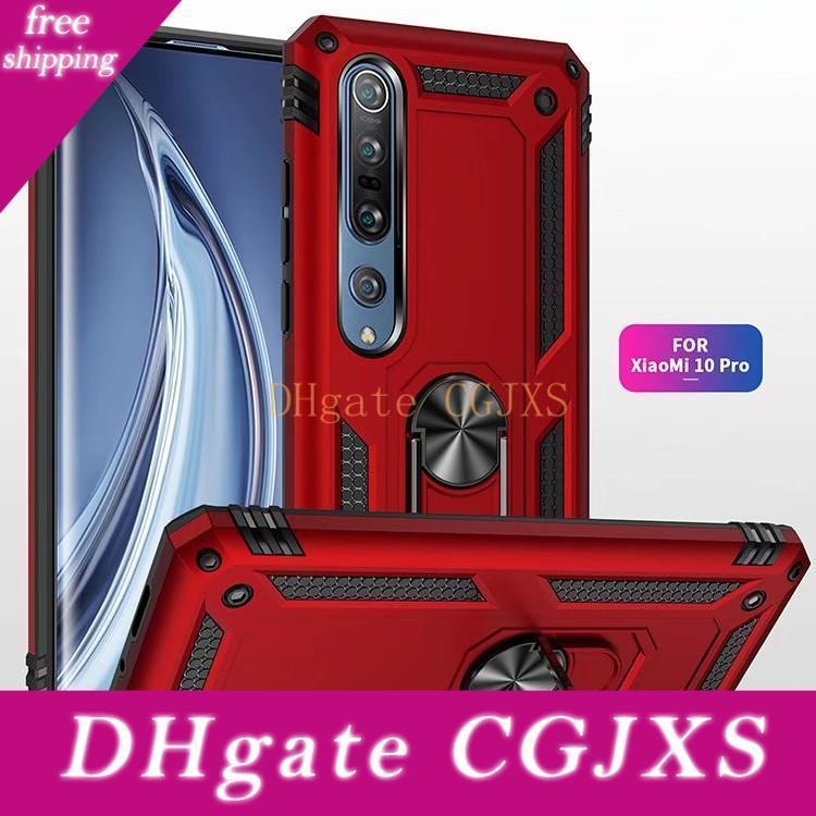 A prueba de golpes caja del teléfono para Xiaomi MI 10 Pro Nota 10Pro 9t Pro 9 9lite A3 magnética del sostenedor del anillo Caver Para redmi Nota 9 9s 9pro Max 8t 8 8PRO 8a