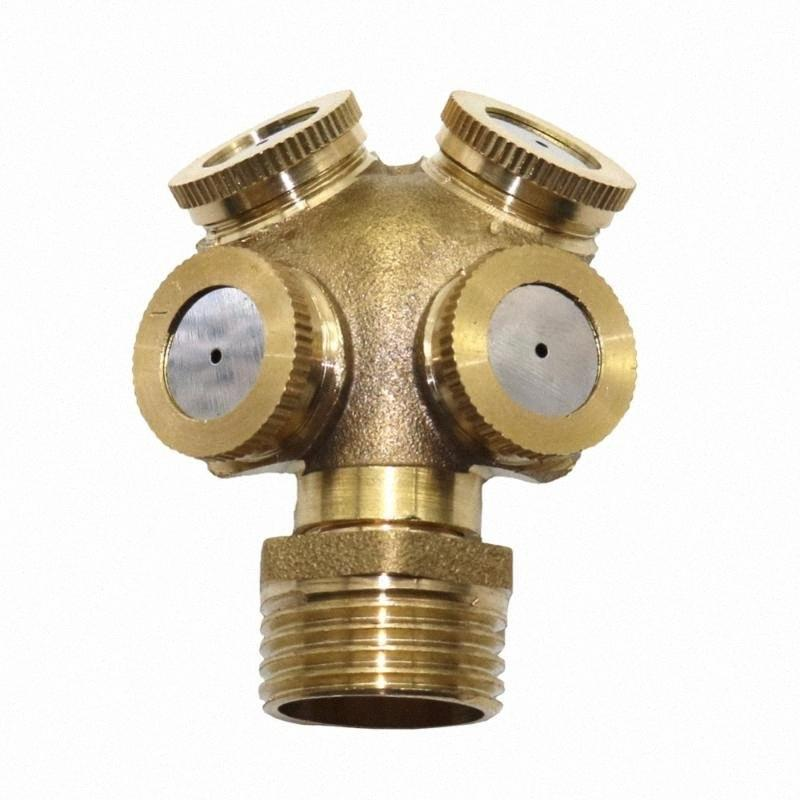 5 Pcs 1/2 polegada pulverizador de água névoa 4 cabeça de atomização horticultura Bico jardim pulverizar arrefecimento ferramentas de jardim de bronze névoa UPBS #