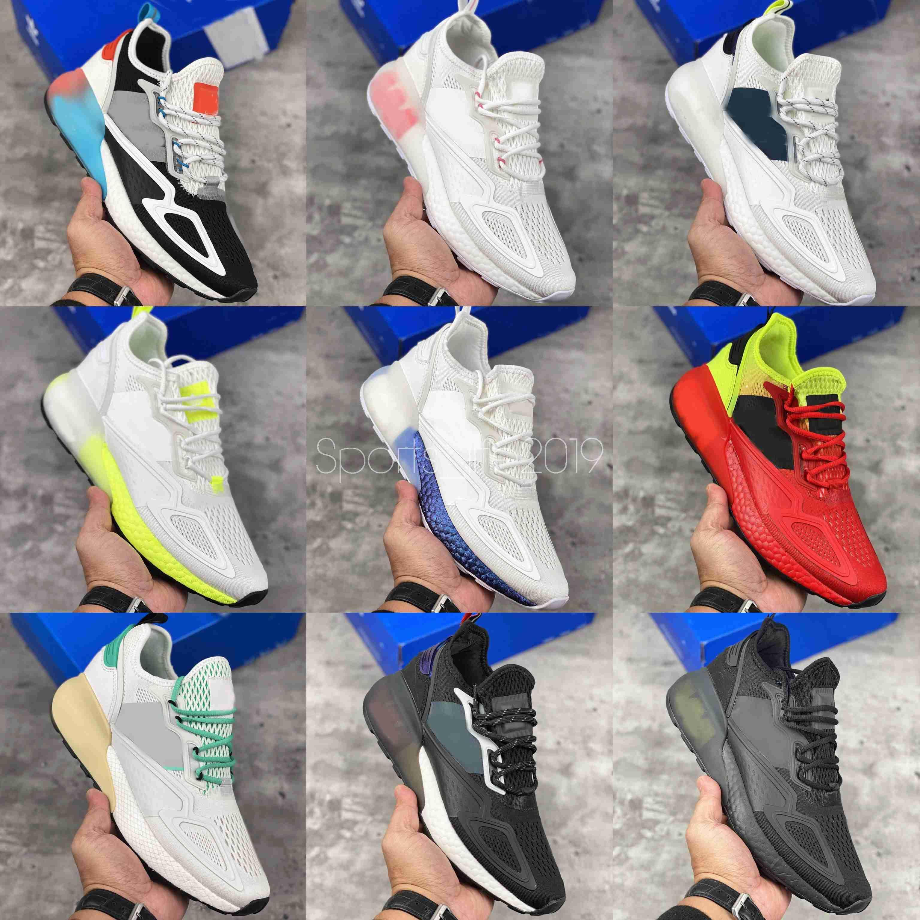 2020 Nuovo Originals ZX 2K Run Mesh ultra estate Moda scarpe da corsa delle donne degli uomini Triple Bianco Nero Designer Sneakers 36-45