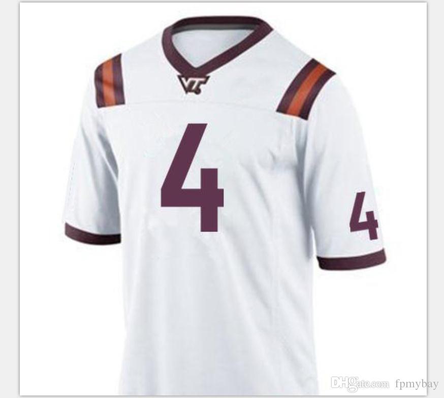 Özel Erkekler Gençlik kadınlar Va Tech Hokies Dax Hollifield 4. Futbol Jersey boyutu s-5XL veya özel herhangi bir ad veya numara forması