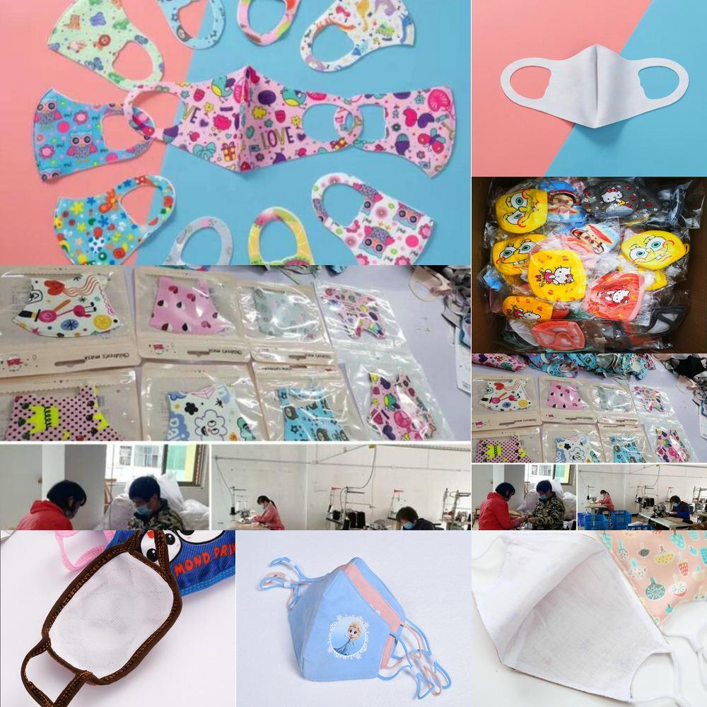 Livraison gratuite Films Dhl Masque pour les enfants Cubrebocas Para Ninos tapaboca Coton Soie Ice Summer Cartoon enfants Facemask Bu