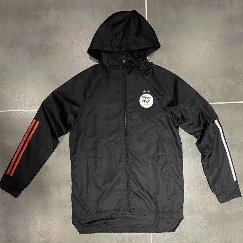 Yetişkin 20 21 cezayir futbol Hoodie rüzgarlık ceket 2020 2021 Kapüşonlular Sports ceketler Kapşonlu fermuar palto Running Erkekler Ceketler