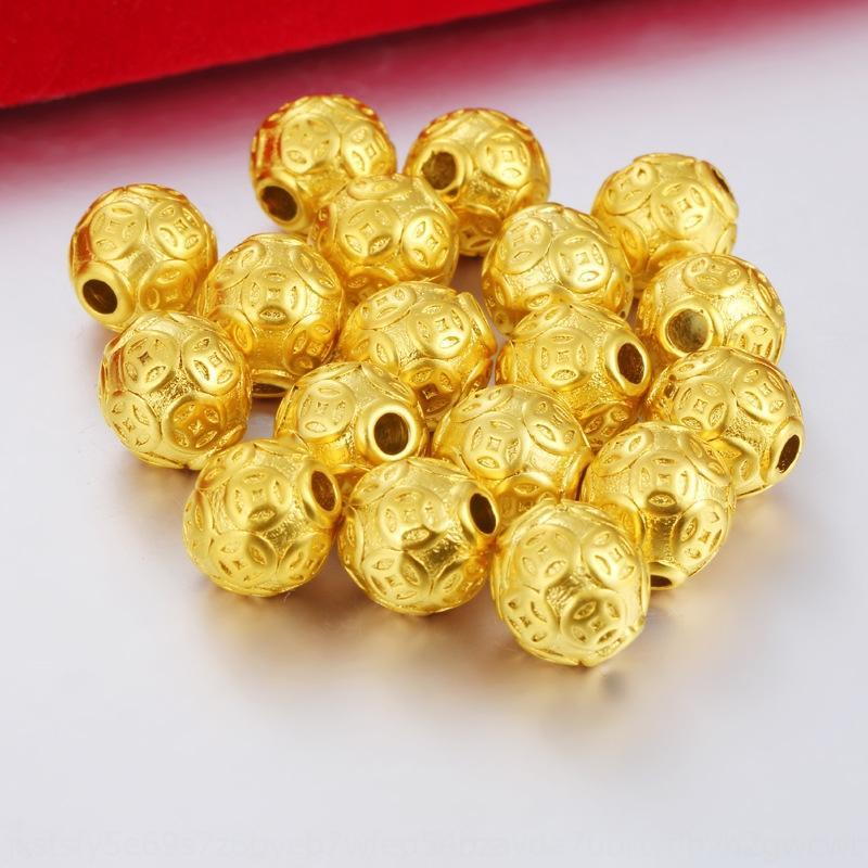 3D joyas de oro chapado en Vietnam arena de vacío de transferencia de dinero de chapado de bricolaje pulsera accesorios sueltos DIY perlas de accesorios aguja