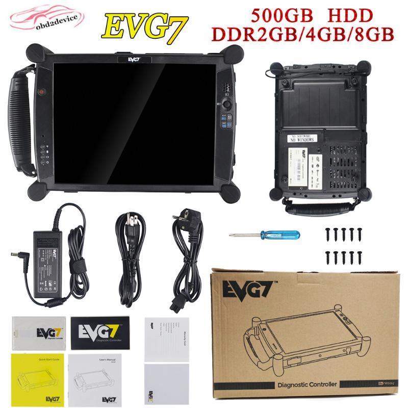 nova EVG7 DL46 HDD500GB DDR4GB / 8GB de diagnóstico do controlador Tablet PC EVG7 completa compatível para icom para ICOM A2 MB estrela C4 C5