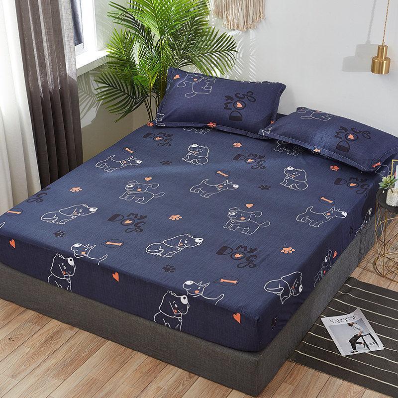 Letto Queen trapunte Imposta Equipaggiata lenzuolo stampato Coprimaterasso copertura domestica Materasso copertura all-inclusive Copriletto Big Bed Cotton Fabr