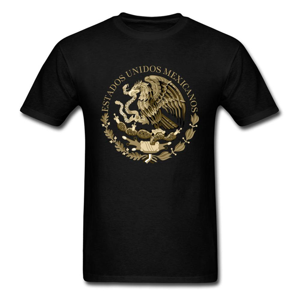 Sello de la bandera de México camiseta retro Vintage T camiseta de Hombres Ropa de algodón Negro Camiseta tes de las tapas de dibujos animados Diseño novio regalo