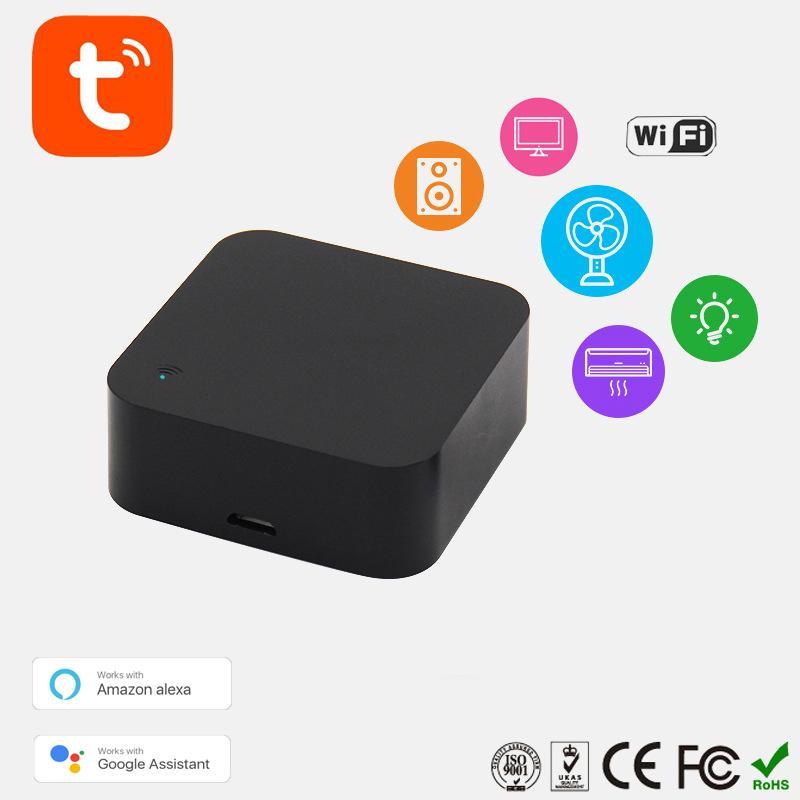 Наименьший Мин WiFi Смарт ИК-пульт дистанционного управления Smart Home Совместимость с Alexa, Google Assistant, IFTTT, Жизнь, TuyaSmart