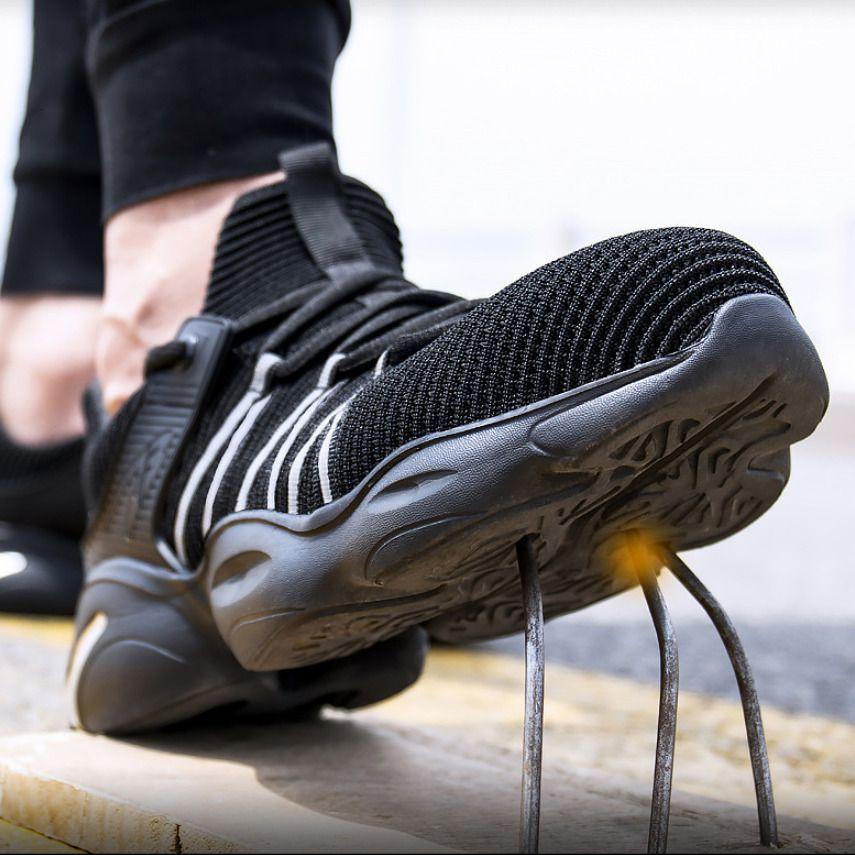 DM316 Unisex Обувь для мужчин лета дышащий ботинок Рабочая сталь Toe Anti-Smashing Строительство безопасности работы Кроссовки