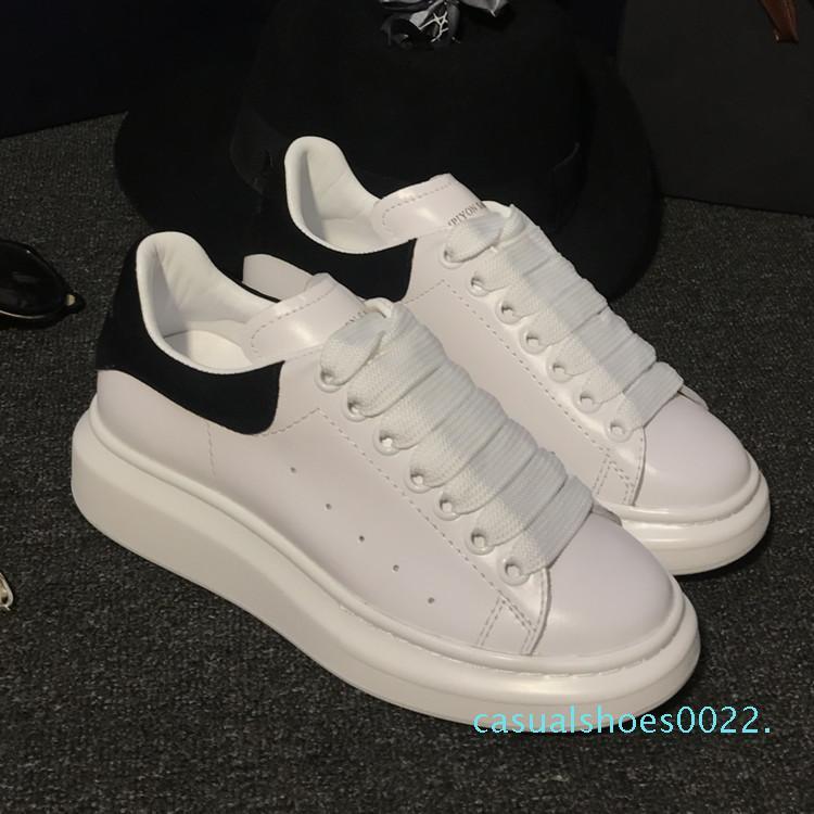2018 Moda Ayakkabı Tasarımcısı Ayakkabı Kadınlar Sneakers Casual Shoes Katı Renkler artırmak Erkekler Kadın Sneakers Giydir Shoeize 35-44 c22