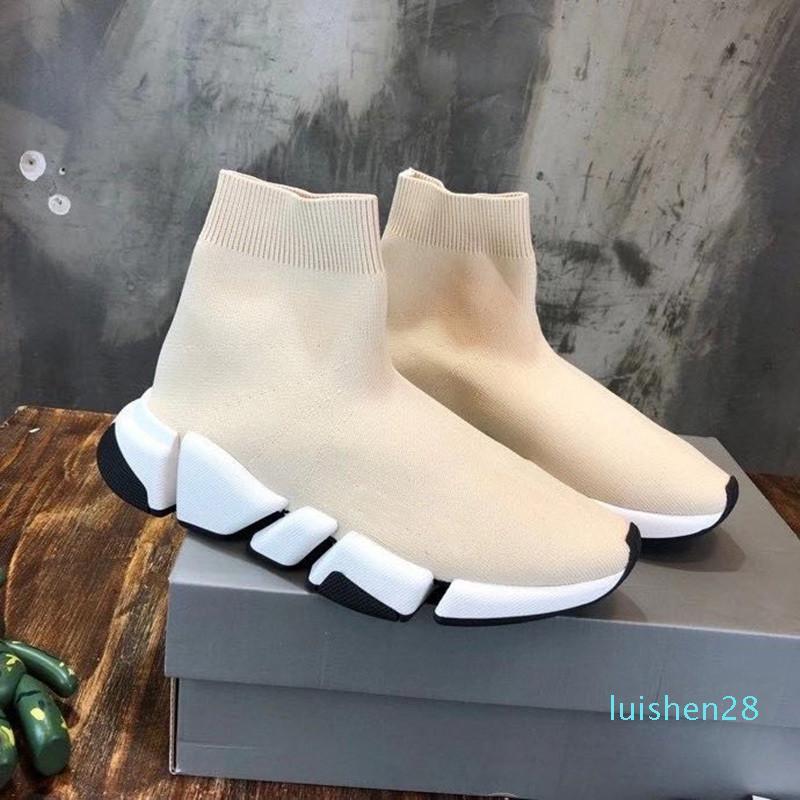 Homens Mulheres Sapatos casuais Sock VELOCIDADE Shoe 2,0 Sports malha estiramento Sneakers Speed Trainer Sock Raça Shoes Comfort Preto Branco Oreol28