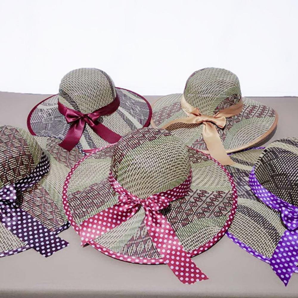 Verano té recoger los agricultores de protección solar recorrido sol té paja paja de vaquero occidental de papel con forma de sombrero hierba sombrero de playa de hombres y mujeres de