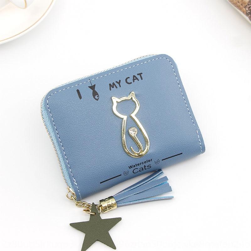 New women's hand wallet Korean cartoon cute cat handbag girl's coin purse zipper bag women's short wallet