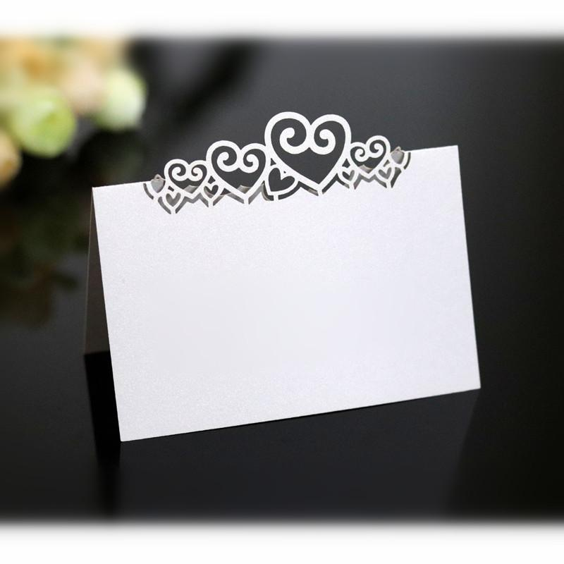 100pcs estéreo boda del amor tarjeta roja del asiento hueco mesa de la mariposa tarjeta del corazón de escritorio en forma de cartel con su nombre En 6Z mayorista