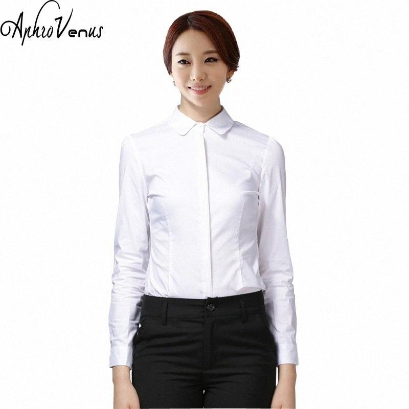 Blouses Spring New Women Cotton Shirt Long Sleeve Woman Blusas Tops Solid Casual Female Office White Shirts Camisas Mujer DU2b#