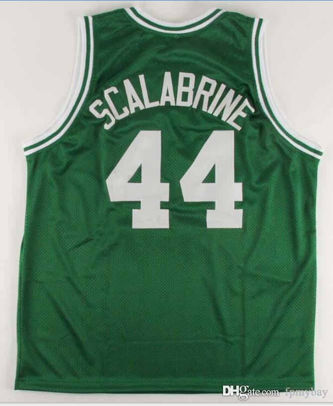 2009-2010 Brian Scalabrine 100% de malla de envío libre # 44 Número Nombre completo bordado Jersey auténtica o costumbre cualquier nombre o el número del jersey