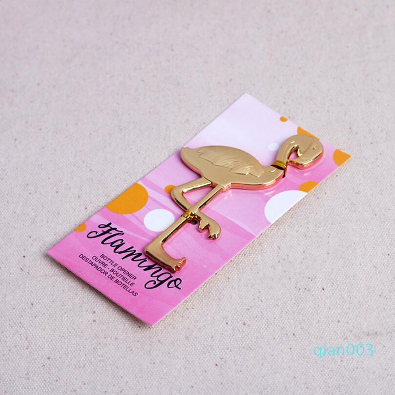 New Beach Theme Bridal Shower wedding favors and gifts metal zinc alloy flamingo bottle opener beer opener LX3616