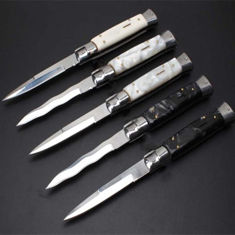 남자 1PCS를위한 OEM 마피아 11 인치 아크릴 5 개 모델 단일 작업 ITA 칼 자동 칼 캠핑 선물 칼