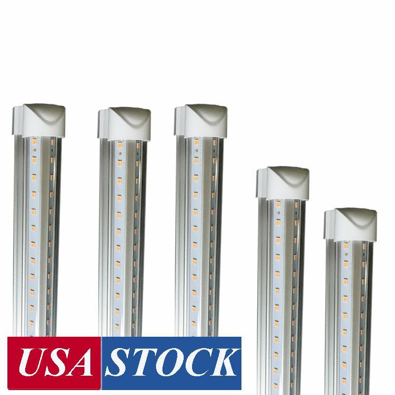 8ft led tube lights V-Shape 8 foot design shop LED lights fixture 2ft 3ft 4ft 5ft 6ft Cooler Door Freezer lighting fluorescent Lamps