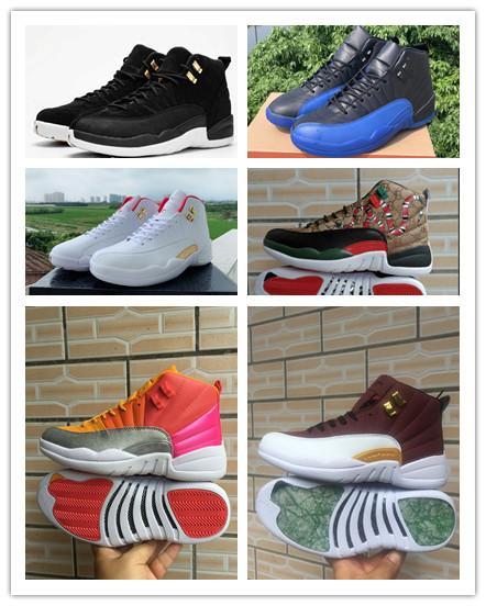 2020 12 12s niños de los hombres zapatos de baloncesto Juego Real bola caliente ponche gimnasia negro blanco rojo Universidad de oro al aire libre para hombre zapatillas de deporte de los formadores