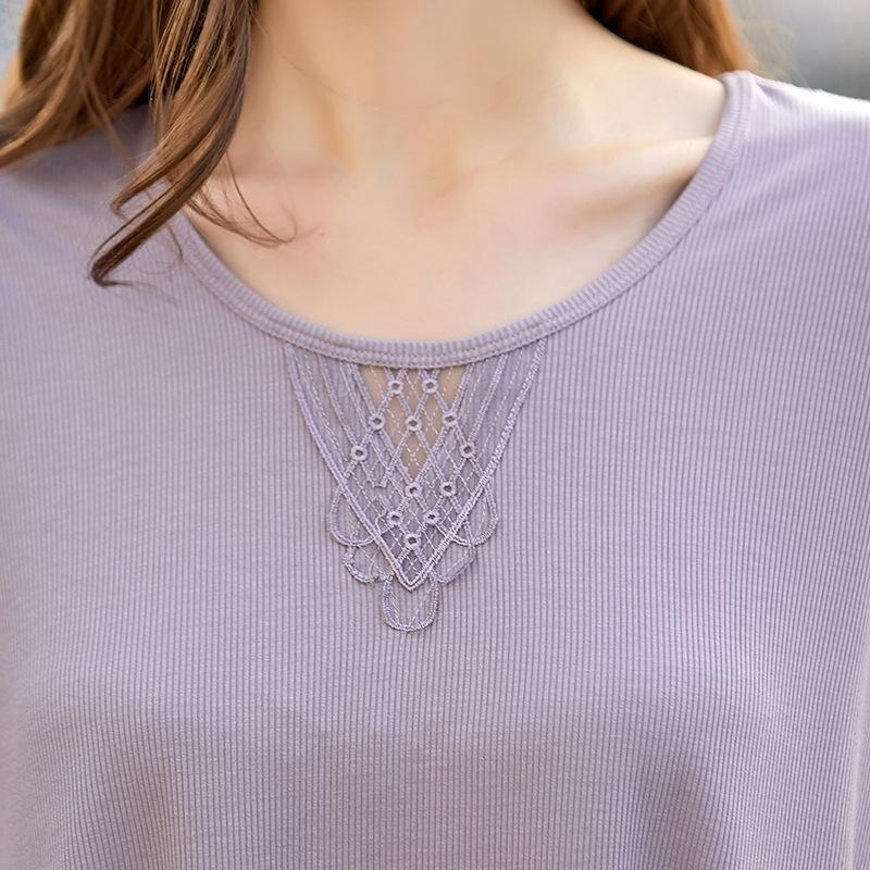 pizzi più grassi di base YGQhx nuova maglia allentata modale delle donne della maglia della camicia della moda traspirante confortevole 2020