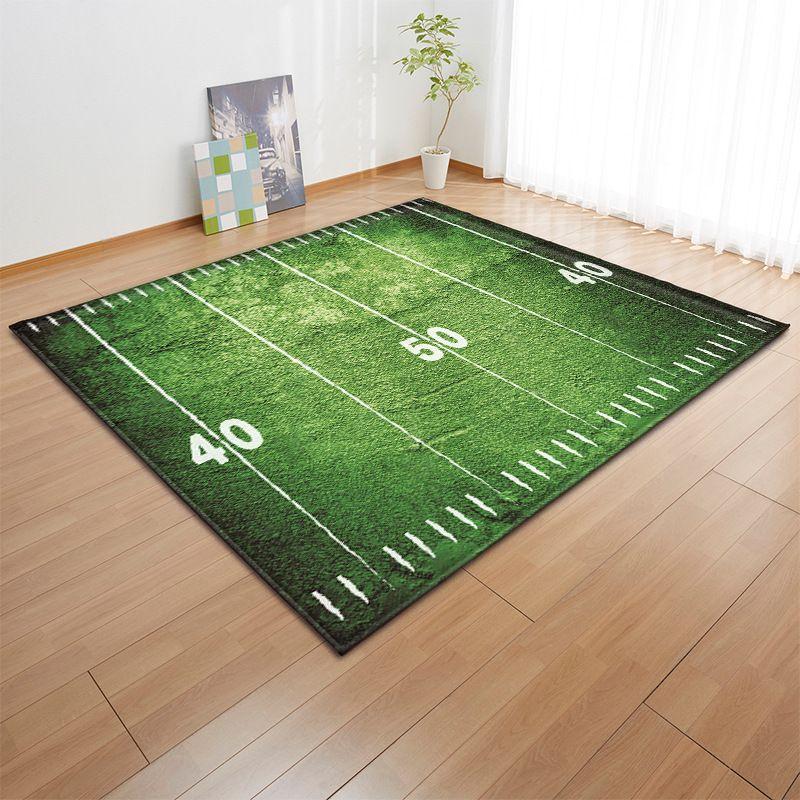 Carpets Nordic Style Creative Home Decoration Grass Court Printing 3d Large Carpet Livingroom Track Green Mat Size Custom Bedroom