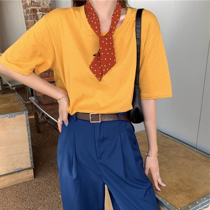 Zerdeçal kısa kollu tişört tişört pantolon set + göl mavi takım elbise pantolon dHHGT uyacak