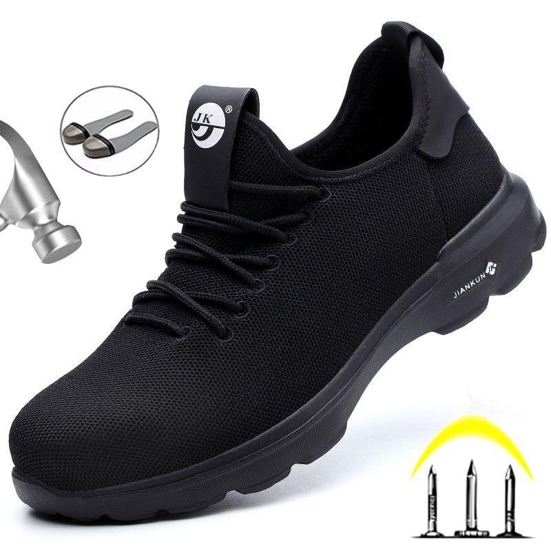 Sapatos leve Segurança do Trabalho Segurança Botas Botas Homem de Aço Toe Calçados profissionais Outdoor Sneakeres prova de punção Sneakers Men 48