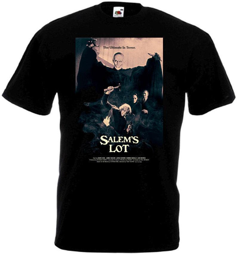 Salem Lot v3 tişörtün siyah film afişi her ölçekteki S-3XL Yaz Moda Komik Tişört Oyun Gömlek üst tee yazdır