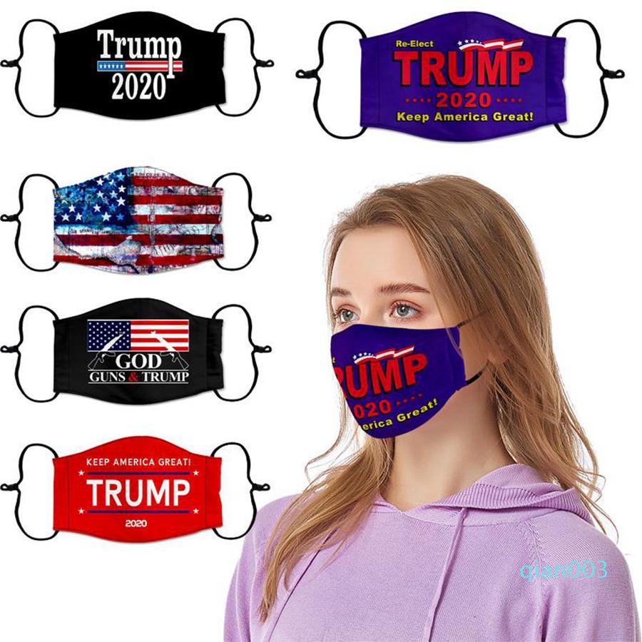 Trump 2020 Masque 10 Styles élection présidentielle américaine font de l'Amérique Grande Encore une fois Lettre Imprimé Masques Visage OOA8208