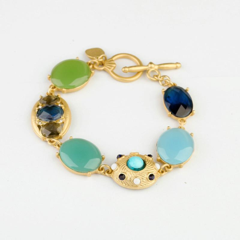 New Arrival Jewelry Shiny Gem Stone High-quality Color Chic Bracelets & Bangles in Bracelet