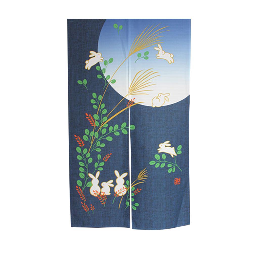 Drape tapeçaria Home Decor Porta Cortina Coelho Printing estilo japonês de Privacidade