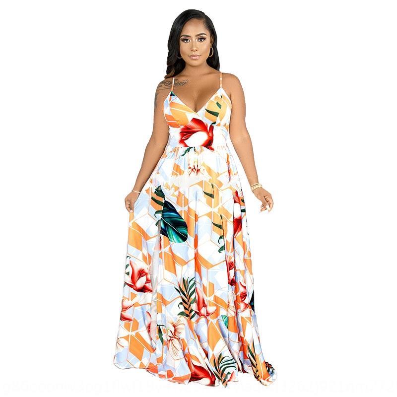 RcBHu 2020 Yaz yeni kadın moda askı Etek Sling Plaj Etek baskılı plaj elbisesi